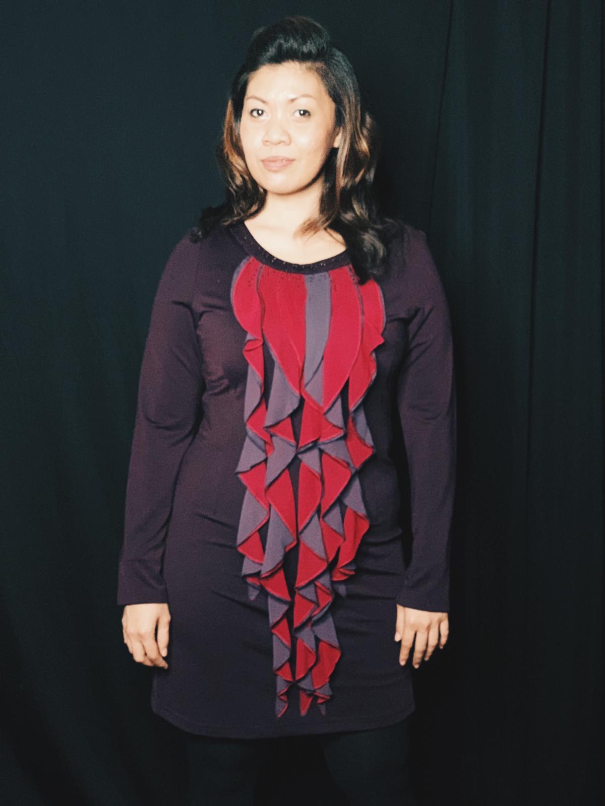 Ruffle stretchable dress