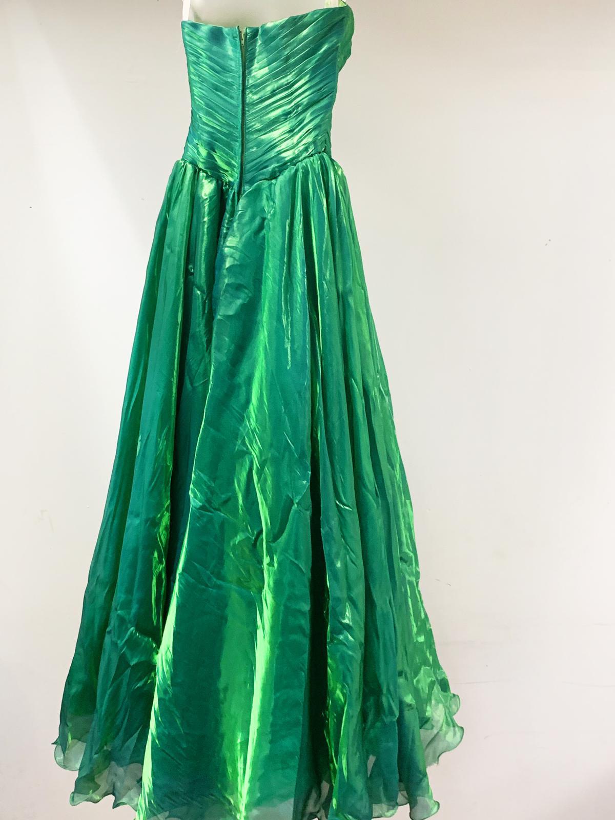 Off shoulder long flare dress