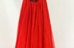Off shoulder sequin long dress